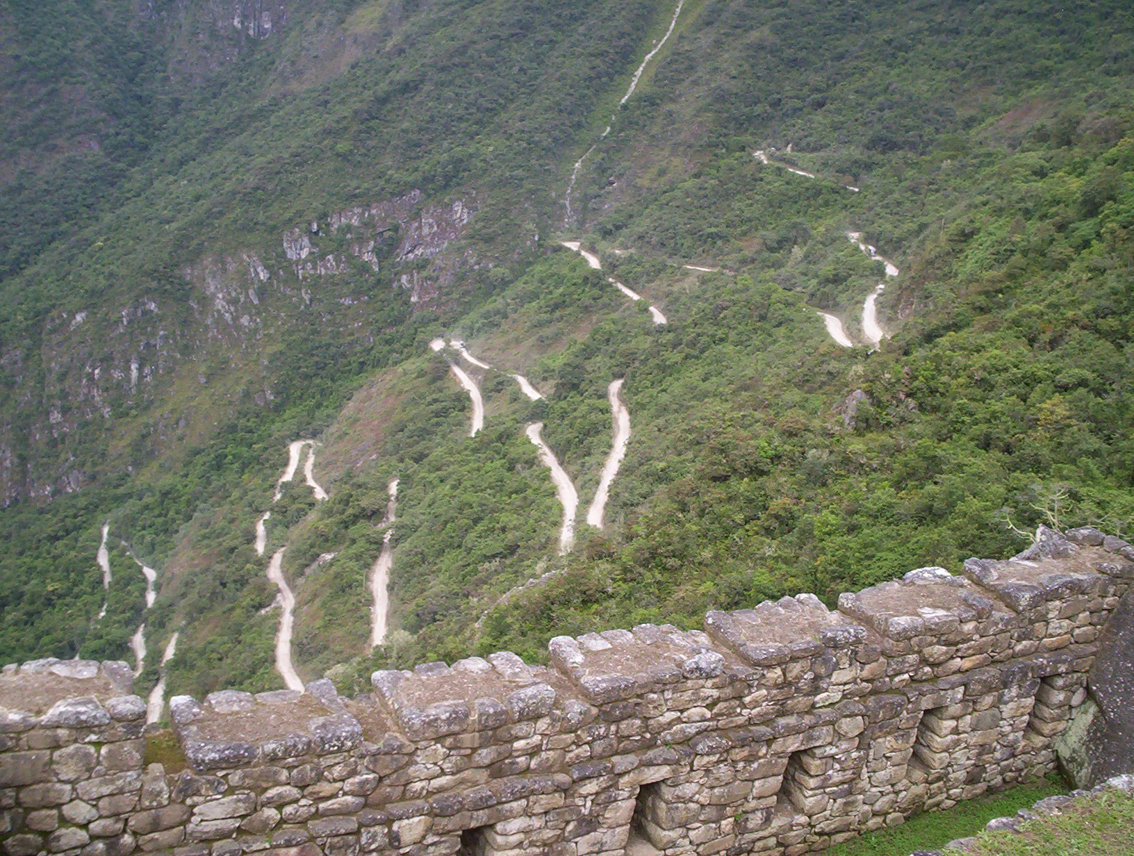 I hope you like winding roads because this is the one you have to take to get to Machu Picchu from the town of Aguas Calientes.