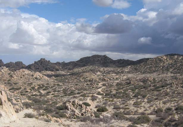 The view looking towards the mexico border near the Valley of the Moon. A nice day hike from Jacumba