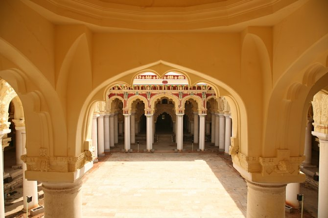 This is an old palace of this city called Thirumalai Nayakkar Mahal. It dates back to the 17th century (Madurai, Tamil Nadu India)