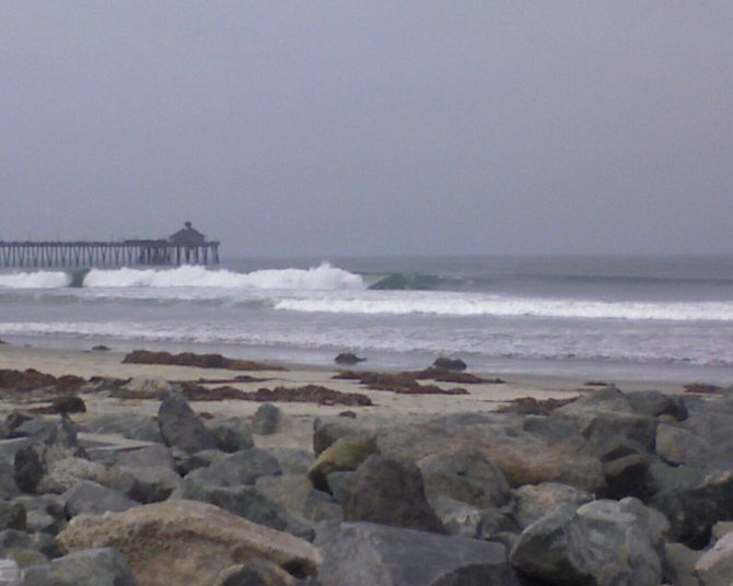 Big waves slam into San Diego's shore line...