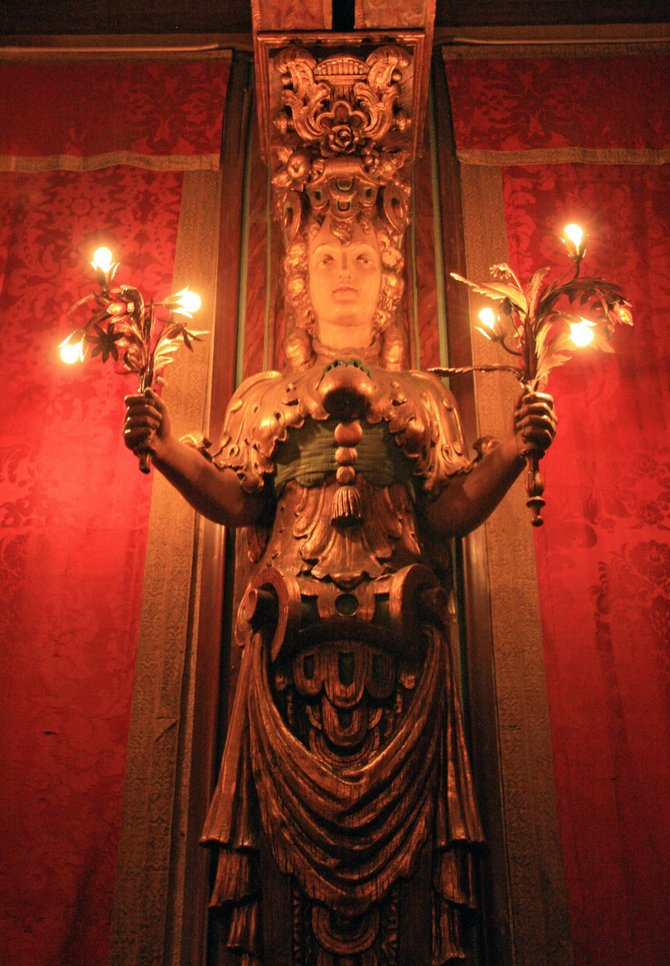 Wall sconce at Hearst Castle