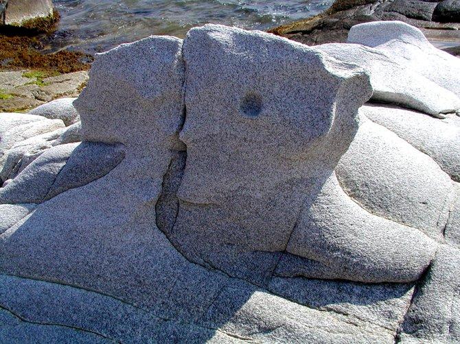 The Kiss, Kolimbithres Beach, Paros, Greece