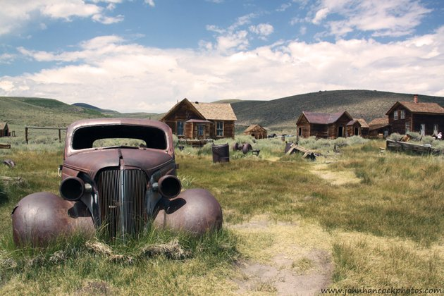 This is an old rusted out car in Bodie State Park. A wonderfully preserved ghost town near Mono Lake off of 395.