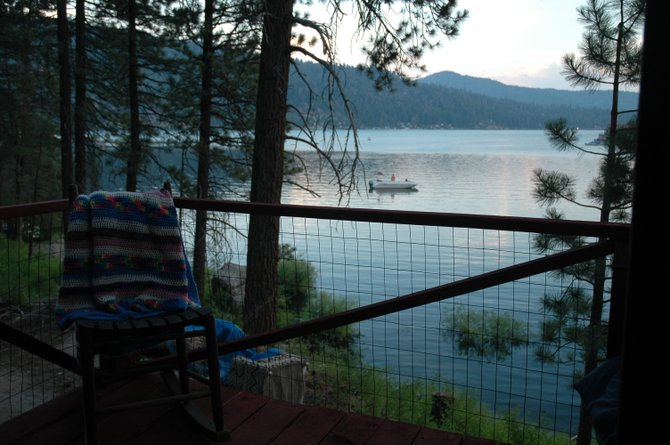 Getting away from the hussle and bussle of the fast-paced world to sit on the porch and relax, go fishing or go for a hike is one of the best stress reliefs. The closer to natures beauty the better I feel. (Big Bear Lake, Papoose Bay, Calif.)