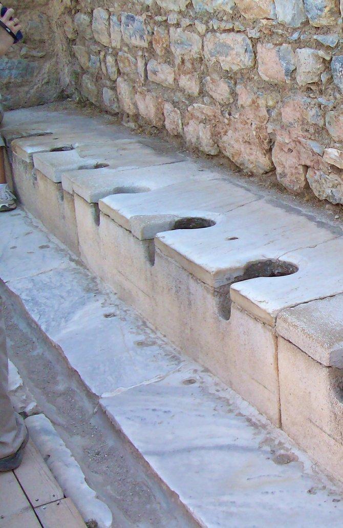 A little privacy, please: Ancient Toilet, Ephesus, Turkey