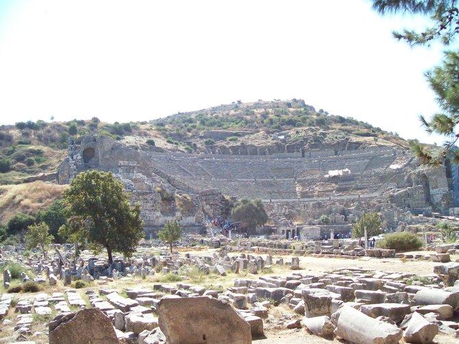 Ancient Greek Amphitheater, Ephesus, Turkey