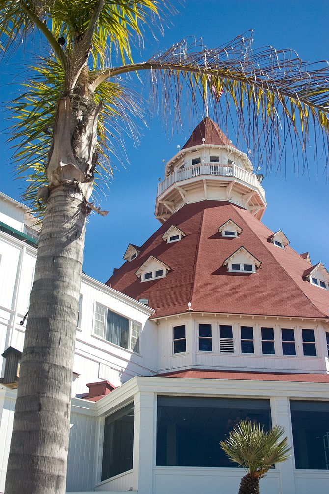 This is a picture I took of Coronado Hotel. I was supposed to be doing an assignment for school but I thought this was an amazing angle to capture.