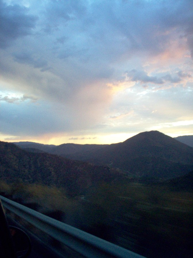 This was a beautiful sunset. (Lake San Antonio, California)