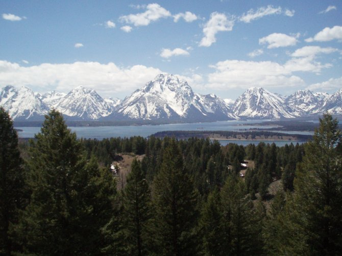 The Jackson Point Summit is three quarters of the way up Mount Signal and offers the best view of the Tetons.