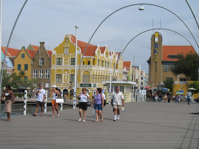 A view of the many Europen style buildings in downtown Willemstad (Curacao, West Indies). Very Dutch, an European oasis in the Southern Caribbean!