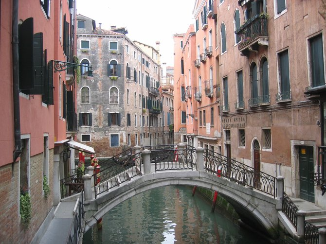 "The ""streets"" of Venice... beautiful, quiet and romantic."