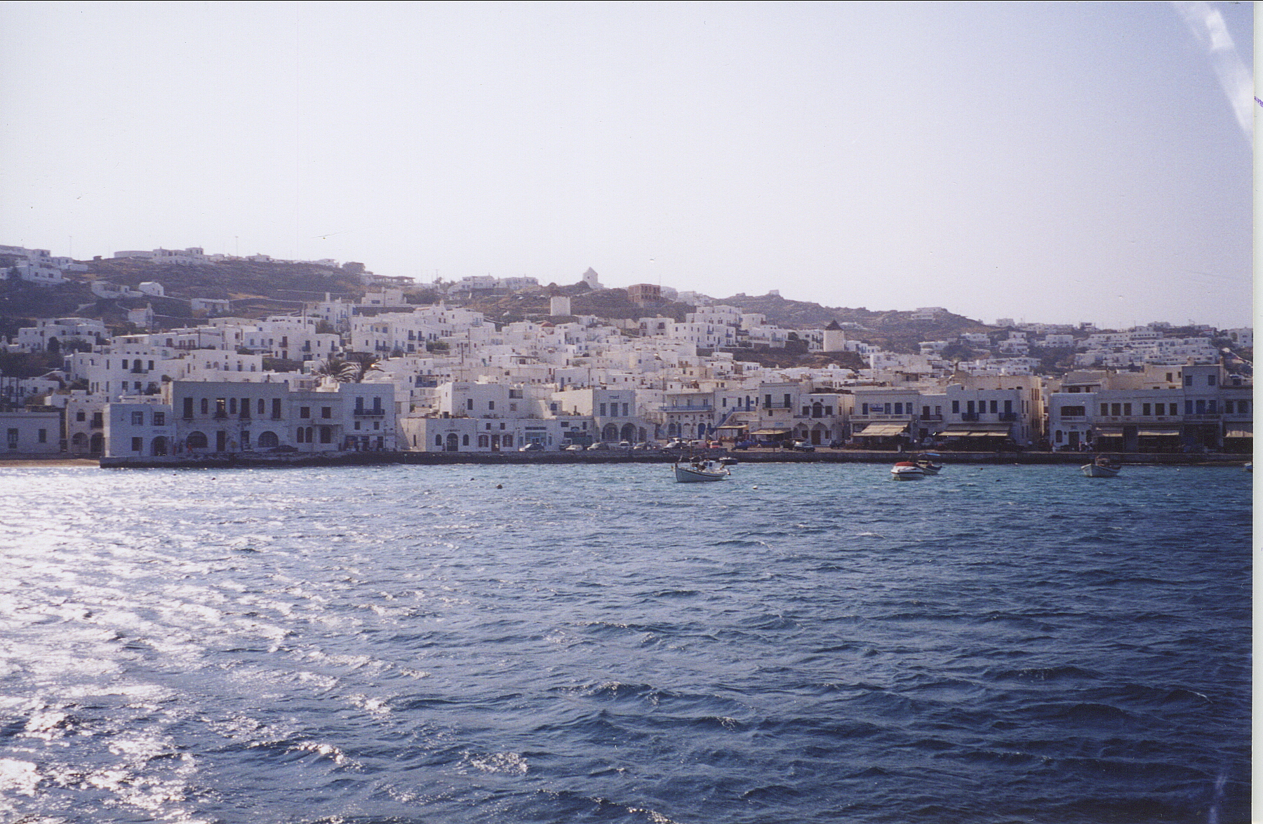 Returning to Mykonos after a day trip to Delos.