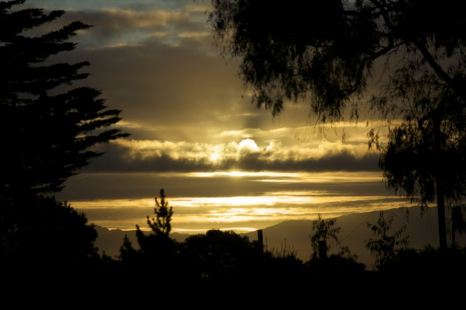 The sunrise over Point Loma on the morning of October 14th, 2009 by Jose Gutierrez.