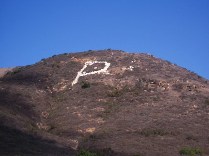 "The big letter ""P"" on the side of the hill in San Marcos lets you know you are in Palomar College country. Go Comets!"