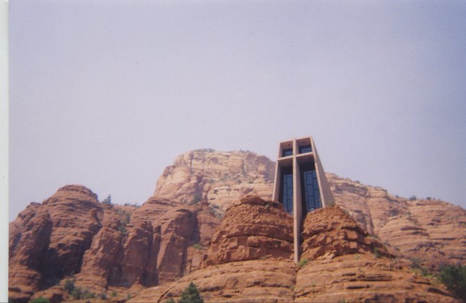 The Chapel of the Holy Cross in Sedona, Arizona