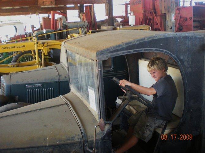 Having fun at Vista's Antique Gas and Steam Engine Museum.