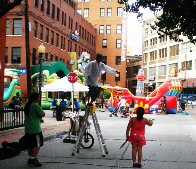 I lucked out the day I visited Dallas' West End Historic District as there was an Island Pirate Party in full swing on Market Street. About half the attendees were dressed as pirates and/or Jimmy Buffet fans. The West End District reached nationwide prominence in the 1960s when President John F. Kennedy was shot in its Dealey Plaza.  In