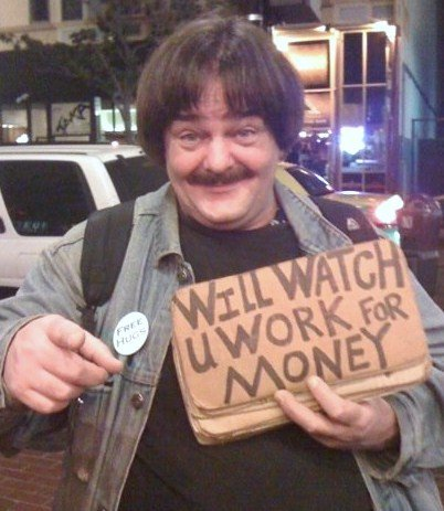 I'm just watching you work for money - I think I should try this on the city hall council .... ha ha ha
