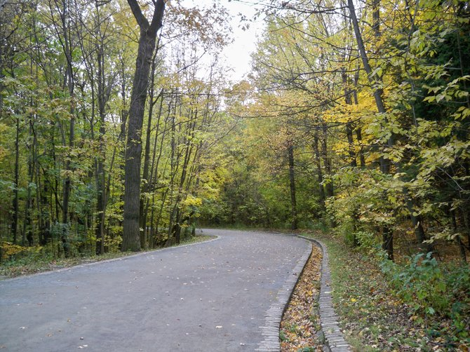 One of the many beautiful walkways in Mont Royal Park in Montreal