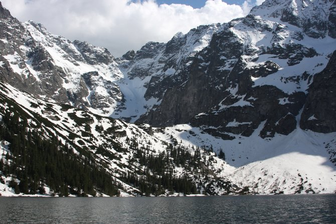 Lake Morskie Oko in Zakopane, Poland. Zakopane is in southern Poland near the Slovakian border.