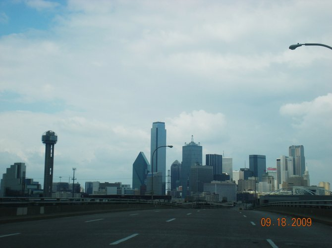Dallas, Texas Skyline – On the road into Dallas but...where is everyone?