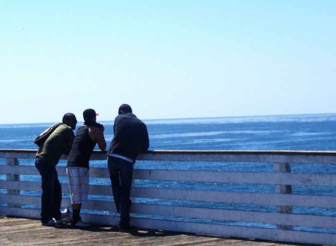 Thoughts about the day three men caught up in the dreaminess of the pier.