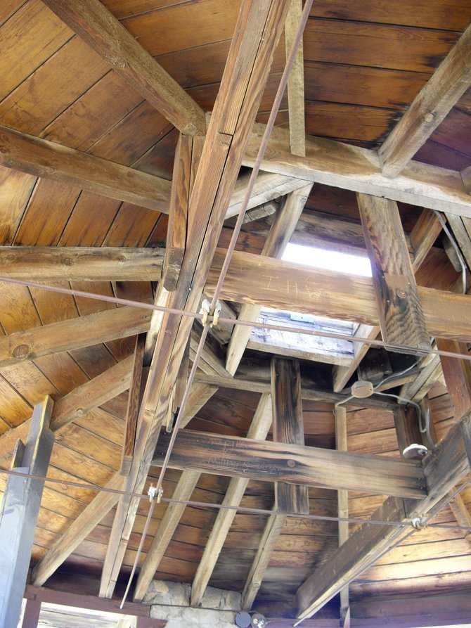 The interior structure of the tower at the In-Ko-Pah desert museum. http://en.wikipedia.org/wiki/In-Ko-Pah_Mountains