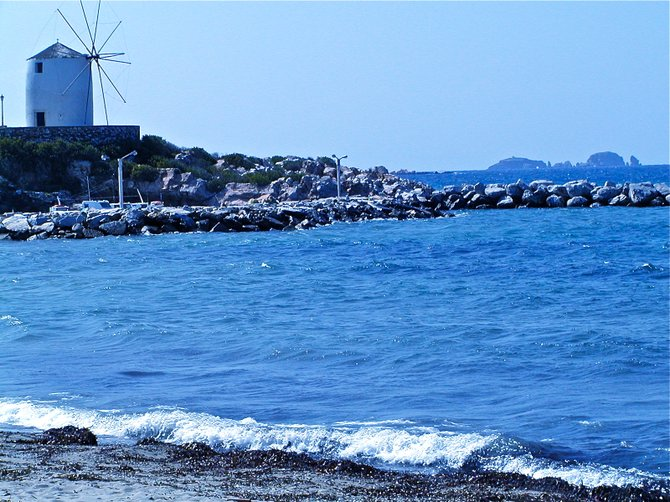 Paroikia Windmill, Island of Paros, Cyclades, Greece