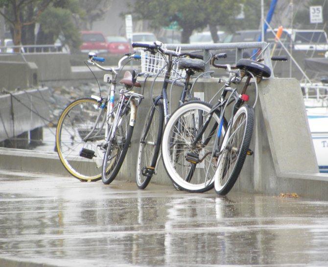 Rainy day commute