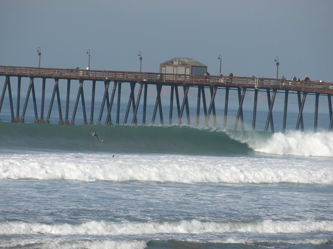 Large swell arrive. 3 days of solid surf, the largest occurring this morning -- Coronado Avenue was a solid 8ft...