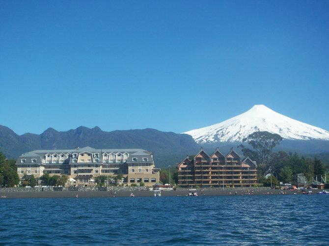 A view from Villarrica Lake, Pucón, CHILE
