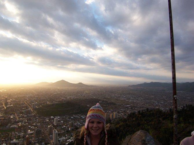 View of Santiago from Saint Cristóbal Hill.