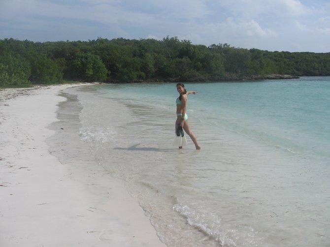 Christmas in the Caribbean! Playa Media Luna, Vieques Island