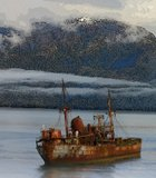 "Traveling aboard the ferry ""Evangelistas"" navigating between Puerto Montt and Puerto Natales, Chile over Christmas, ..."