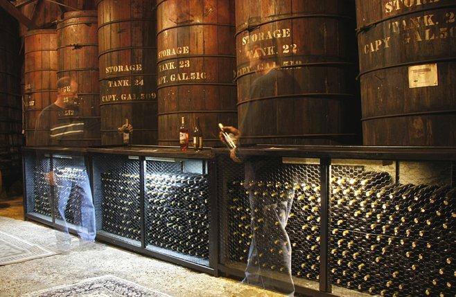 Rancho Bernardo: Ghosts in the barrel room at the Bernardo Winery ...