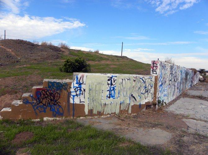 Graffiti on a hill