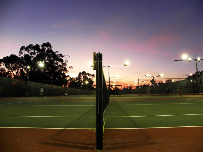 Tennis courts at Morley Field