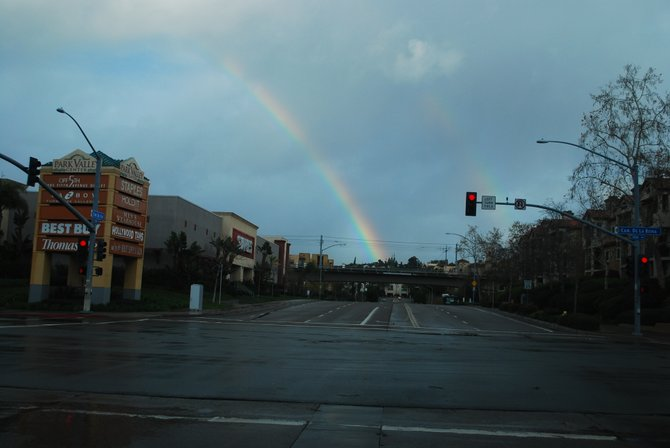 Rainbow in Mission Valley