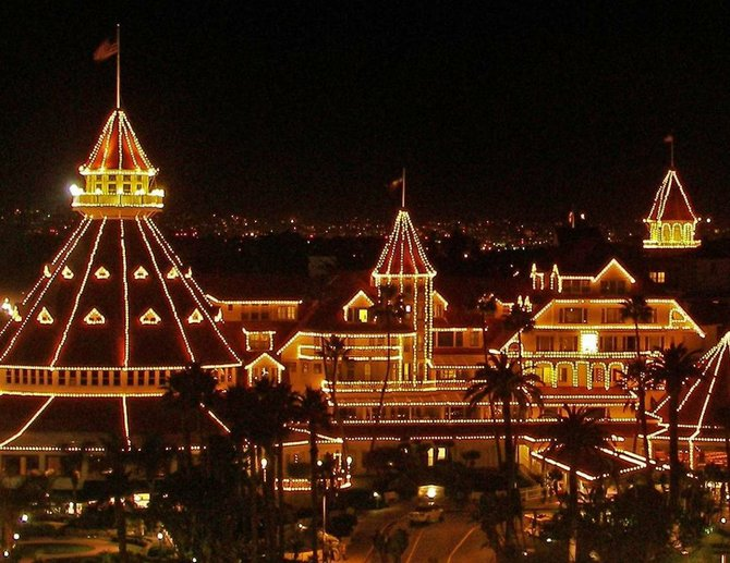 The Hotel Del Coronado is all decked out for Christmas.