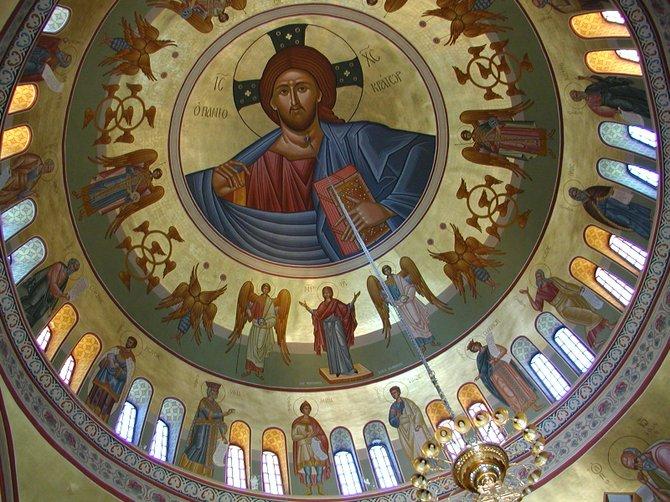 Church Ceiling, Fira, Santorini, Greece