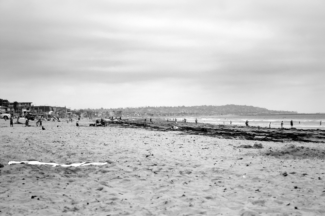A relaxing day at Pacific Beach with a camera at hand.