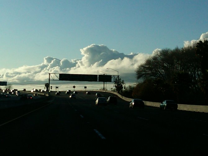 Yesterday's clouds from Mission Valley 8 West