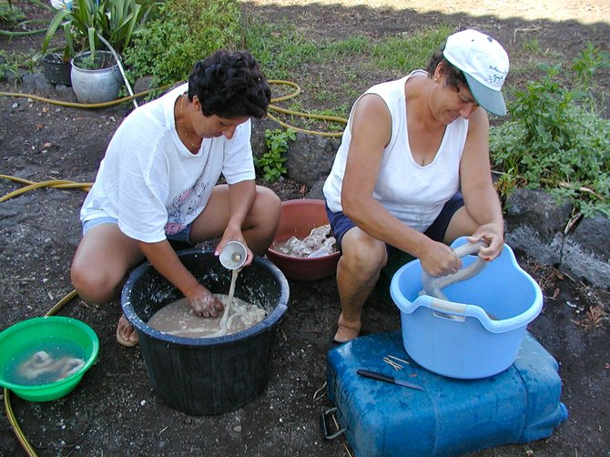 The Linguica makers: Island of Pico, Azores.