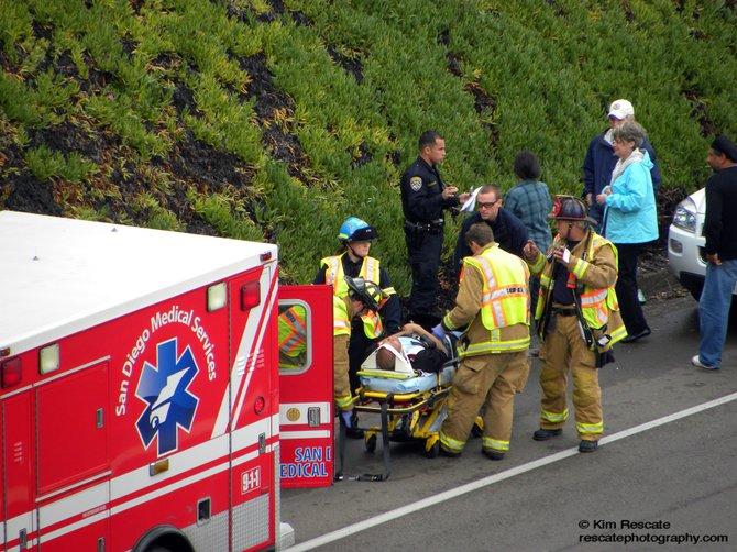 Accident on I-805 around noon February 28, 2010.