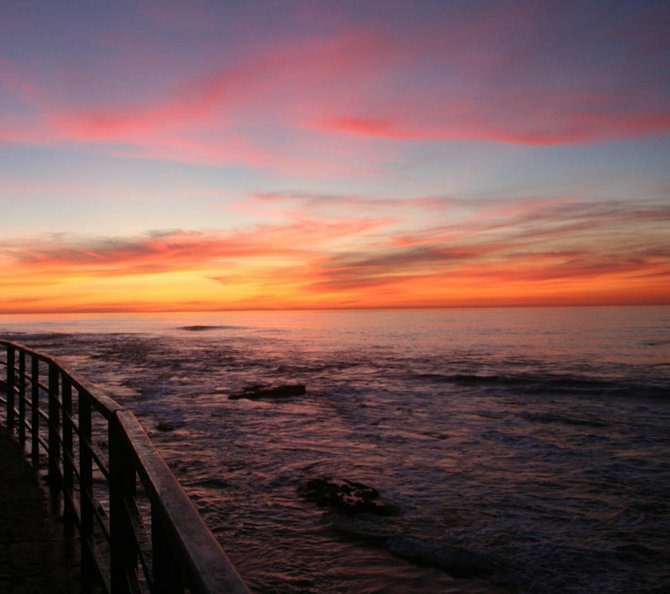 Sunset at Casa Beach.