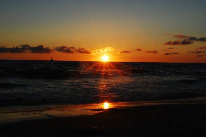 Mission Beach sunset.