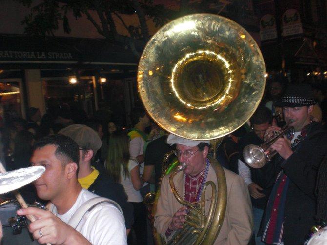 Mardi Gras in downtown.