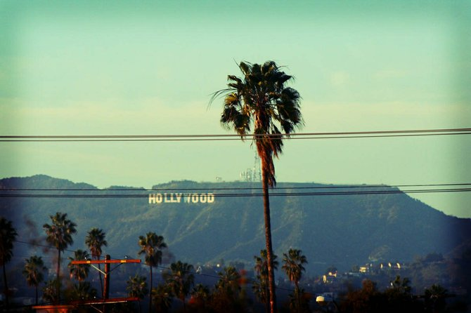 The infamous Hollywood sign.