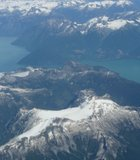 Taken while flying over the western edge of Canada