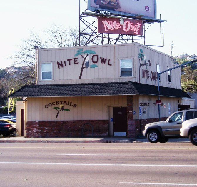 The Nite Owl Cocktail Lounge, located at 2772 Garnet Avenue in Pacific Beach, has been a fixture in San Diego for as long as I can remember.